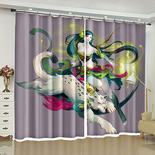 ZZHL Curtains Curtains,Hooks Rings Blackout Set Thermal Insulated Window Treatment Solid Eyelet Bedroom 2 Panels A8 (Size : 1.1x1.8m) by ZZHL (Image #3)