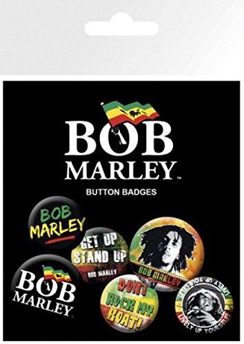 Cm Surprise Bob Badges amp; Get 32mm Marley 1x Up 1art1® De Sticker 25mm 4 15x10 Stand Paquet X Set 2 qHaSHWwpf