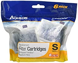 Aqueon minibow replacement filter cartridge 2 pack (small)