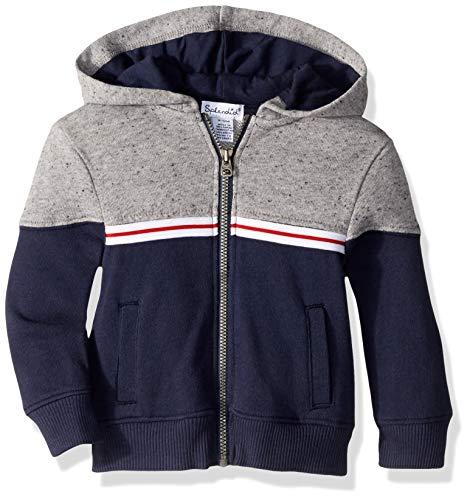 - Splendid Boys' Kids and Baby Hoodie Sweatshirt, True Navy Color Block 3/6