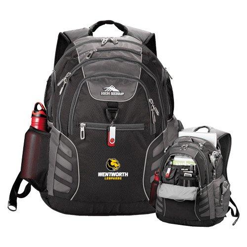 Wentworth High Sierra Big Wig Black Compu Backpack 'Official Logo' by CollegeFanGear