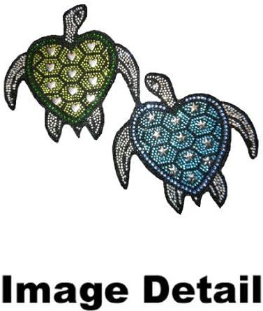 CarsCover Blue /& Green Turtles Crystal Diamond Bling Rhinestone Studded Carpet Car SUV Truck Floor Mats 4 PCS