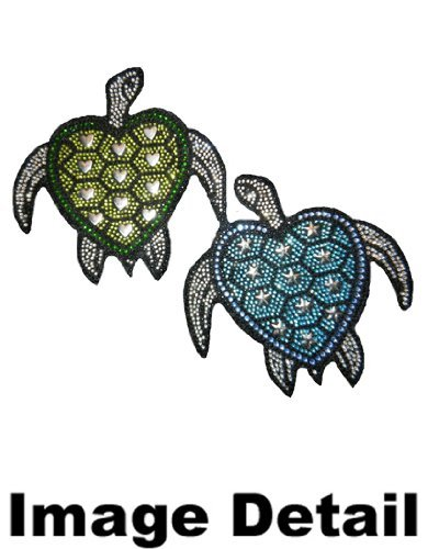 CarsCover Blue /& Green Turtles Crystal Diamond Bling Rhinestone Studded Carpet Car SUV Truck Floor Mats 4 PCS