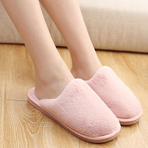 Byste Home & Kitchen Flat Soft Comfortale Slipper Shoes Women, Fluffy Faux Fur Flip Flop Sandals Pink