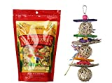Lafeber's Nutri-Berries Parrot Food El Paso with Bell Peppers (10 Ounces) and Toy Bundle