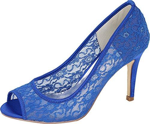 Femme Bleu Ouvert CFP 5 Bout 36 Bleu w4ZxpHRq