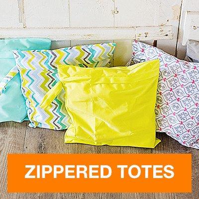 FuzziBunz Zippered Tote Bag, Calypso