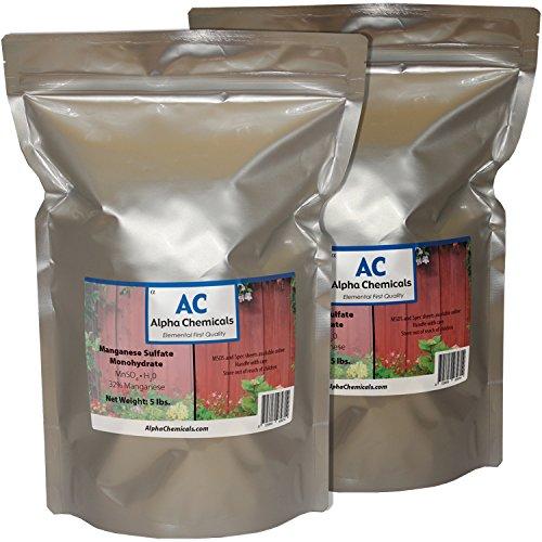 Sulfate Monohydrate - Manganese Sulfate Monohydrate - 32% Mn - 10 Pounds