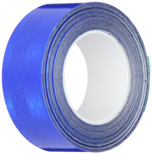 3M 3435 Blue Micro Reflective Tape Roll - 1 in. x 15 ft. Engineer Grade Adhesive Tape Roll for Non Critical Signing Applications. Marking Tape