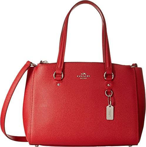 COACH Women's Crossgrain Mini Double Zip Carryall Sv/True Red One Size by Coach