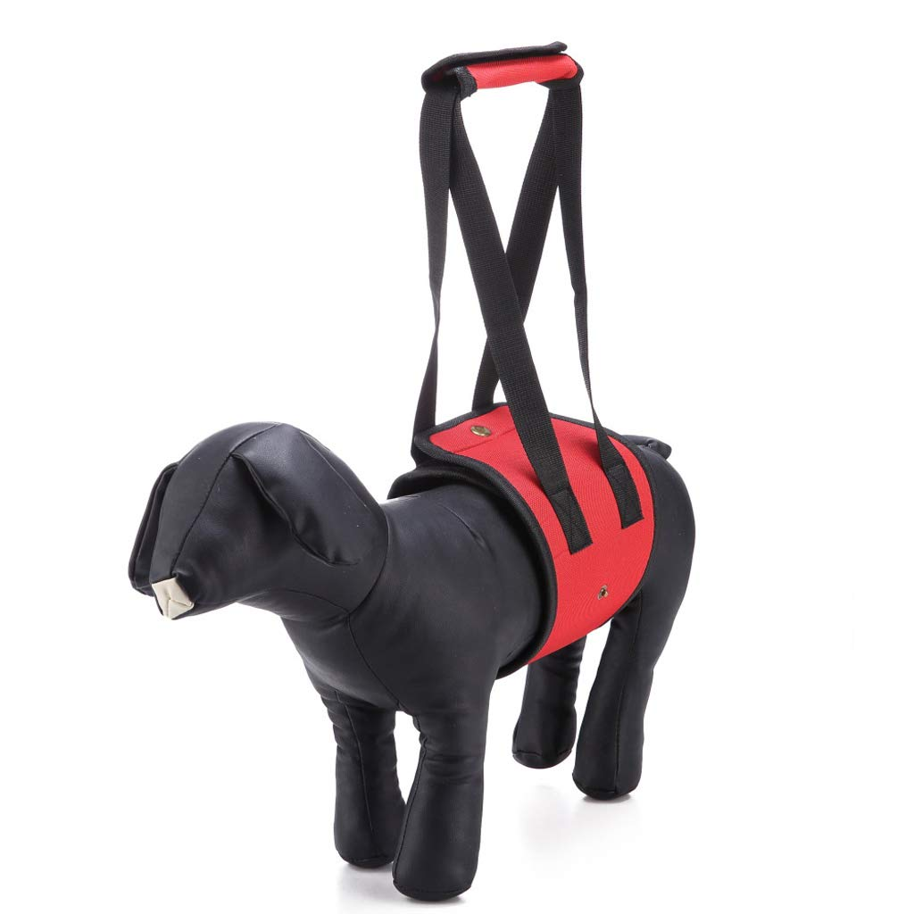 S Pet Walking Auxiliary Belt, Red Old Dog, Disabled Dog, Hind Leg Injury, Pet Strap, Traction Rope, Power Belt, Belt (Size   S)