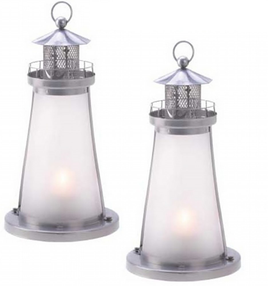 Amazon.com: 20 FROSTED WHITE LIGHTHOUSE THEME CANDLE LANTERN EVENT ...