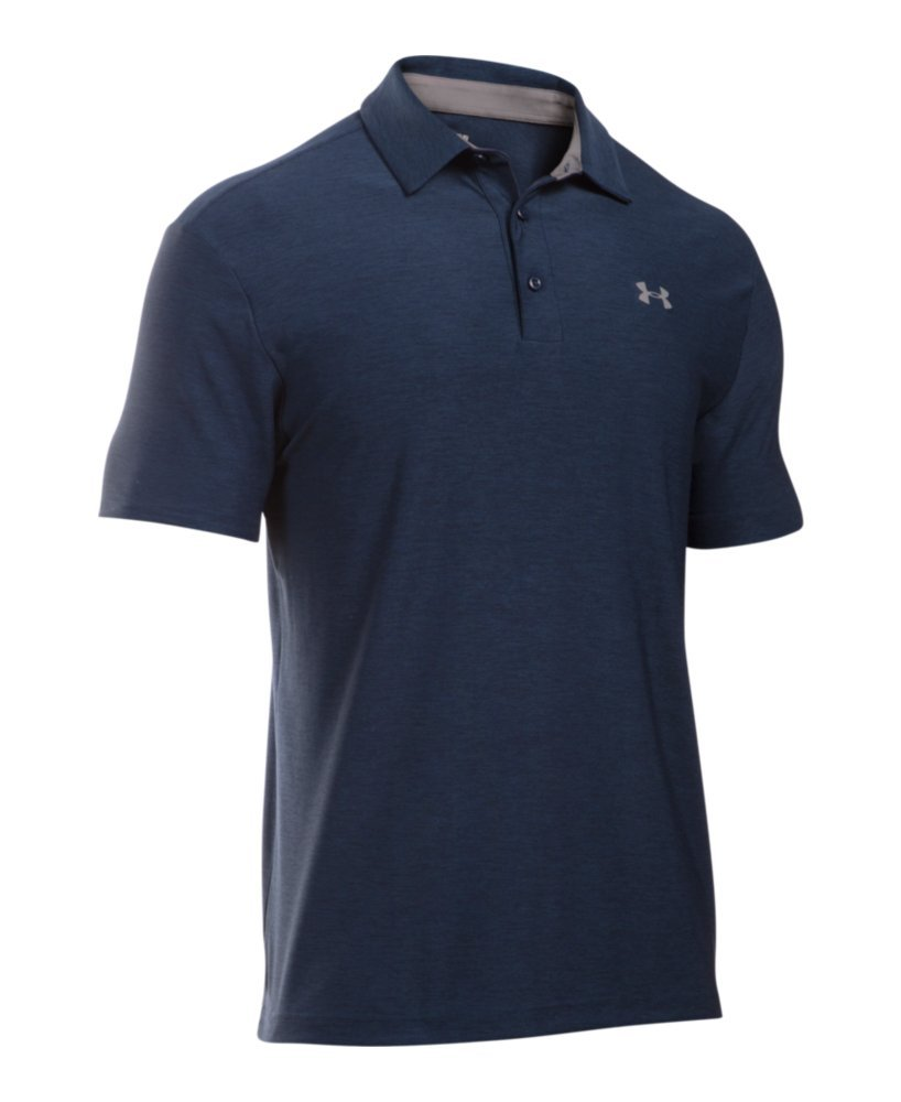 Under Armour Men's Playoff Polo, Academy (408)/Graphite, Small by Under Armour (Image #4)