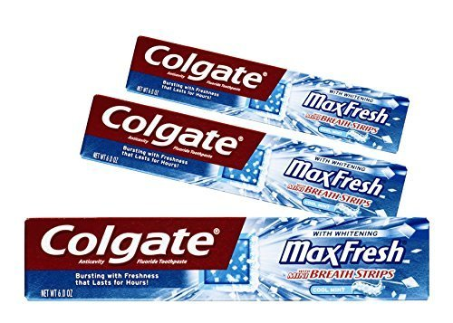 (3 Pack) Colgate MaxFresh Fluoride Toothpaste with Mini B...