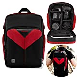 Professional Camera Case Sling Backpack for Nikon Canon Sony and More DSLR Cameras and Lens, Accessories, Durable Waterproof & Tear Proof Bag with Padded Dividers