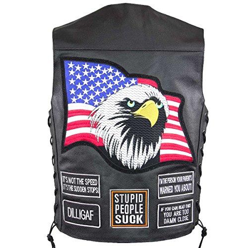 Flag Leather Vest - 5