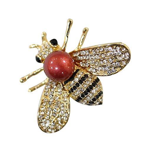 - ZUOZUOYA Honey Bee Brooch for Women - Insect Themes with Gold Tone Brooch Pin - Fashion Mother of Green Pearl Brooch Pins - Great for Wife,Sisters,Friends or Daily Wear