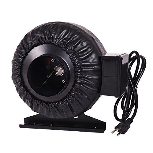 Goplus Inline Ventilation Duct Fan Hydroponics Exhaust Fan Duct Cooling Fan (4 Inch) ()