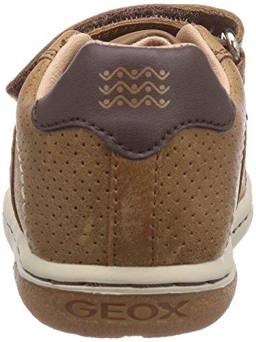 Geox B FLICK BOY A - zapatillas de running de cuero bebé marrón - Braun (LT BROWNC6002)