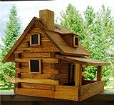 House of Krumbach Log Cabin Bird Feeder
