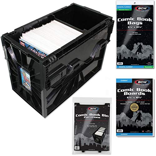 BCW Starter Comic Book Storage Kit - Storage Box, Dividers, Resealable Bags and Backing ()