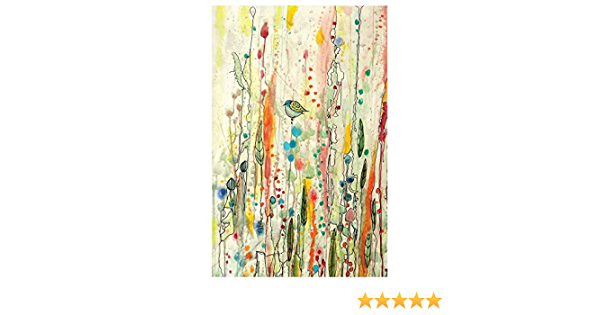 Amazon Com Mywonderfulwalls Bird Art Watercolor Painting Decal Freedom By Sylvie Demers M Home Kitchen