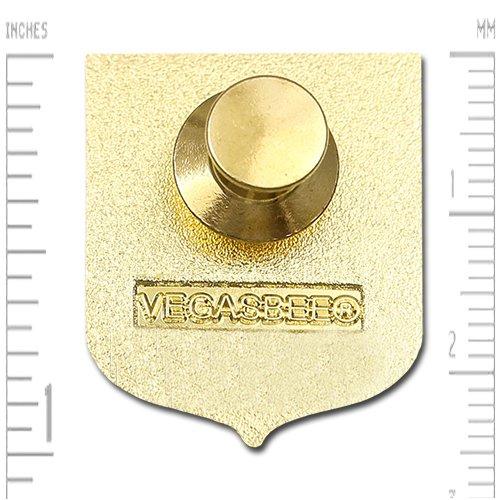 VEGASBEE Germany Eagle Coat of ARMS German Crest Gold Plated Premium Lapel PIN Gift Box Pouch Deutschland BUNDESADLER