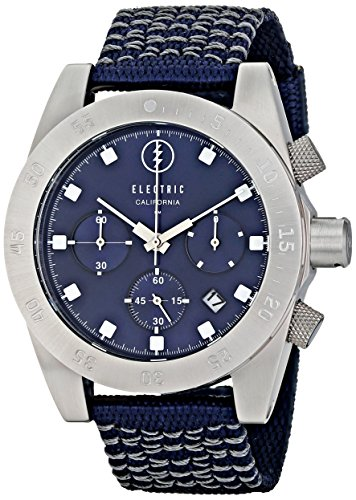 Electric Men's EW0030020011 DW01 Nato Band Analog Display Japanese Quartz Blue - Second Designer Sunglasses Hand