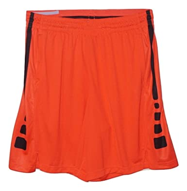 33988710a7b7 Image Unavailable. Image not available for. Color  Nike Elite Stripe Basketball  Short Max Orange Max ...