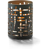 Hollowick Data Gold and Black Metal Votive Lamps with HD8 Liquid Candles (4 Pack), Gold and Black Metal W/Hd8 (60054RPK)