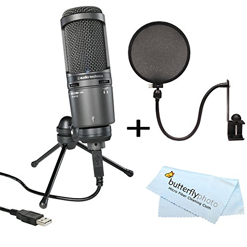 audio-technica-at2020usb-plus-cardioid-condenser-usb-microphone-nady-mpf-6-6-inch-clamp-on-microphon