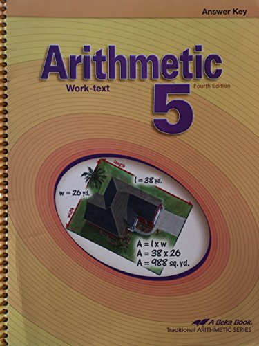 - Arithmetic 5: Work-text (answer key)