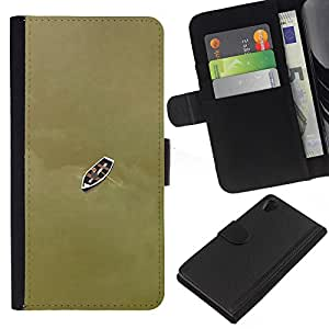 KLONGSHOP // Tirón de la caja Cartera de cuero con ranuras para tarjetas - Barco profundo significado de bronce de Brown - Sony Xperia Z2 D6502 //