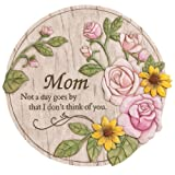 "Evergreen Garden Not a Day Goes By Mom Polystone Memorial Stepping Stone - 12""W x 0.5""D x 12""H"