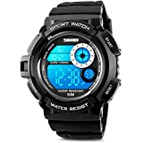 Aposon Men's Digital Sports Watch, Military Army Electronic Watches Running 50M 5 ATM Waterproof Sports LED Wristwatch Water Resistant with Stopwatch -White
