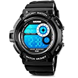 Best SKMEI Man Watches - Mens Digital Watch, Sport Electronic LED Waterproof Military Review