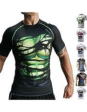 Khroom Hochwertiges Herren Funktionsshirt | Perfekt für Fitness & Gym - Kompressionsshirt im stylischen Helden Design