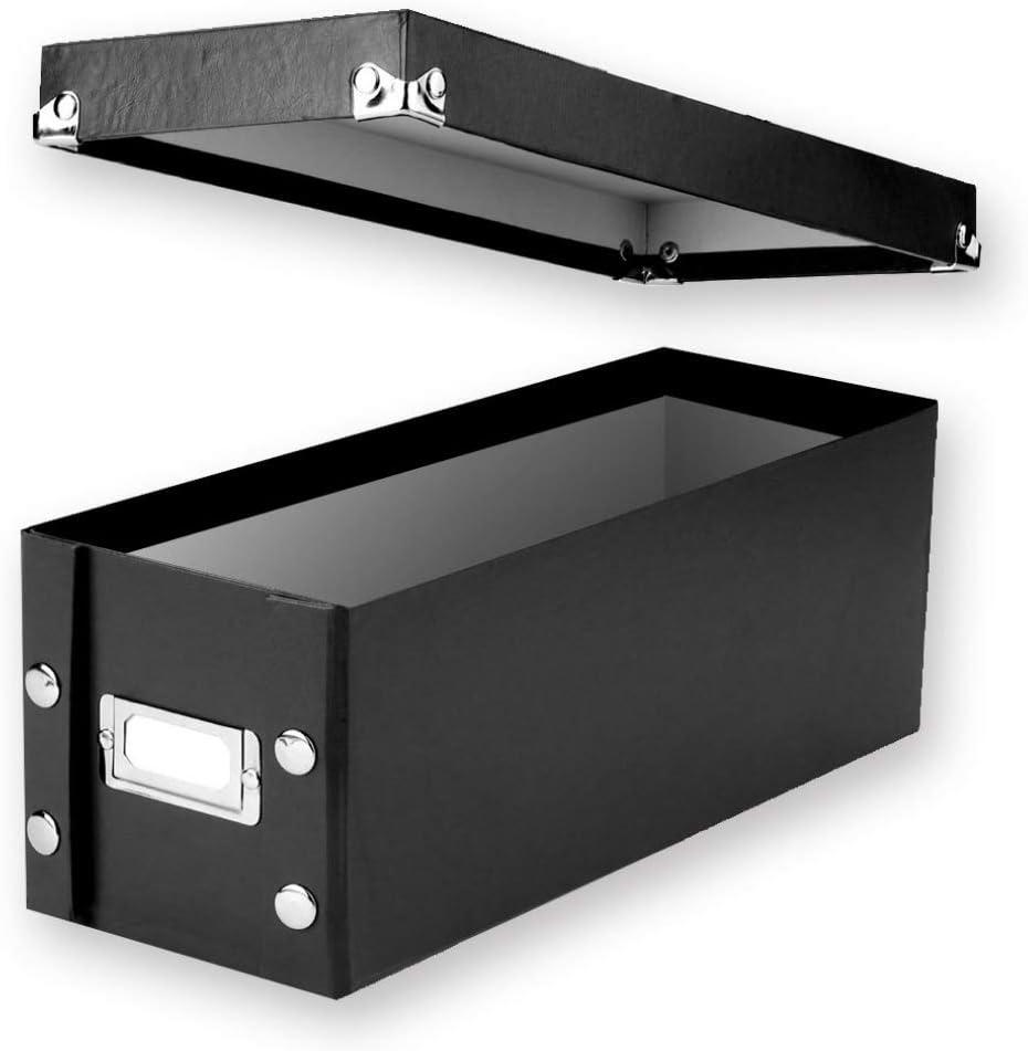 Snap-N-Store CD Storage Box, 13.25 x 5.125 x 5.125 Inches, Black (SNS01521-AMZ)