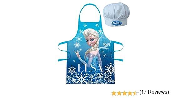 Disney Frozen - Set de cocina infantil, delantal y gorro cheff (Suncity RNA101344): Amazon.es: Ropa y accesorios