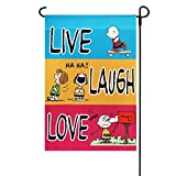 SNOOPY AND THE PEANUTS GANG LIVE~LAUGH~LOVE~MINI FLAG 12″ x 18″~NEW AND SEALED Review