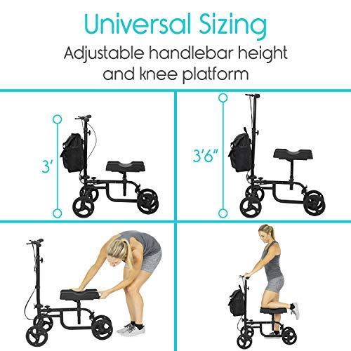 Vive Walker Steerable Scooter Leg, Foot, - Cart Pad and Elderly 4 Wheel -
