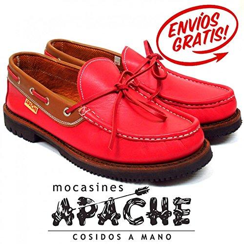 APACHE 412V ROJO-CUERO - Color - Rojo, Talla - 43: Amazon.es: Zapatos y complementos