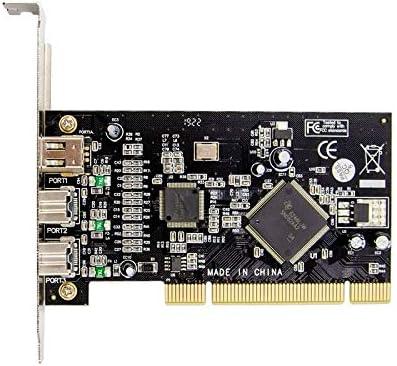 MEO PCI 1394A+1394B FireWire Card 2+1 Ports 1394 Port PCI Controller Card TI Chipset TI SN082AA2 TSB81BA3