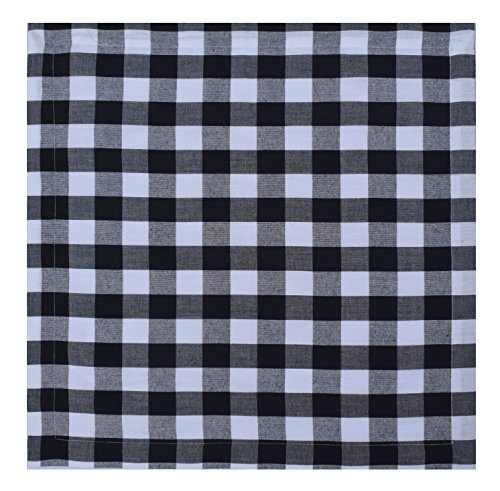 Linen Clubs Pack Of 12 Black -white 100% Cotton Yarn Dyed Gingham Check Dinner Napkins 18x18Inch,Clambake Beach party Nautical Dinner Napkins as well offered by by Linen Clubs (Image #3)