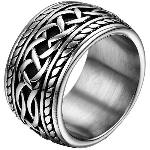 JewelryWe Edelstahl-Ring
