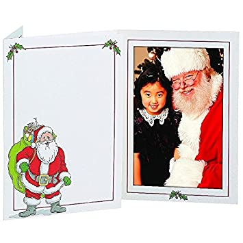 Amazon.com - SANTA photo insert holiday folder frame for 5x7 prints ...