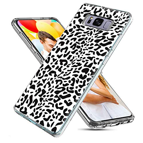 - S8 Plus Case Cute,S8 Plus Case for Girls,ChiChiC Full Protective Slim Flexible Soft TPU Rubber Cases Cover with Art Design for Samsung Galaxy S8 Plus,Black White Animal Skin Leopard Print