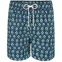 Shorts Floral Marinho