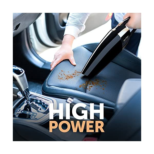Car Vacuum High Power 120W Car Vacuum Cleaner Handheld Portable Auto Vacuum Cleaner By 12V With Long Power Cord Extra HEPA Filter Carrying Bag Black Stylish And Effective