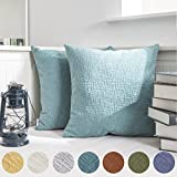 Would you like to add some color for your bed or living space? Now, Your life will be changed.              KEVIN TEXTILE Deluxe Soft Plush Velvet Striped Cushion Cover       Material: 100% high quality polyester(Faux Chenille...